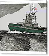 Foss Tractor Tugboat Canvas Print
