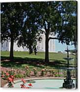 Fountain At Capitol Square  Canvas Print