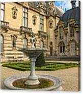 Fountain At Chateau De Chantilly Canvas Print