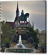 Fountain At Eakins Oval Canvas Print