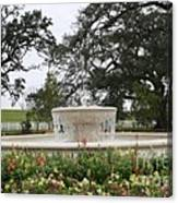 Fountain At Nottoway Canvas Print