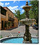 Fountain At Tlaquepaque Arts And Crafts Village Sedona Arizona Canvas Print