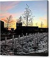 Fountain At Trinity River Campus 1566m Canvas Print