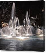 Fountains At Night Canvas Print