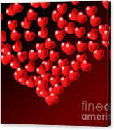 Fountain Of Love Hearts Canvas Print