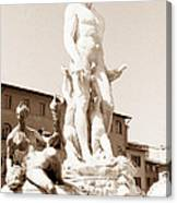 Fountain Of Neptune Florence Canvas Print