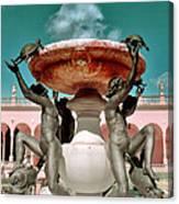 Fountain Of The Tortoises Ringling Museum Sarasota Canvas Print