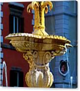 Fountain Piazza Farnese Canvas Print