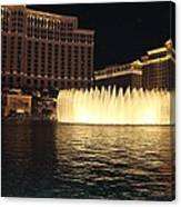 Fountain Vegas Canvas Print