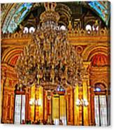 Four And One-half Ton Crystal Chandelier In Ceremonial Hall In Dolmabache Palace In Istanbul-turkey  Canvas Print
