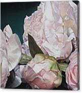 Four Blooms 45 X 80cm Canvas Print