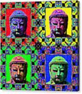 Four Buddhas 20130130 Canvas Print