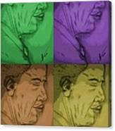 Four Colours Of Obama Canvas Print