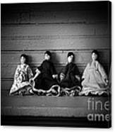 Four Dollies Canvas Print