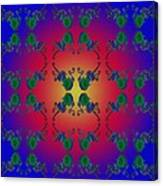 Four Fancy Fiddles Tiled On Multi Bright Canvas Print