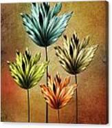 Four Fractal Flower Canvas Print