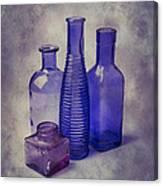 Four Glass Bottles Canvas Print