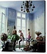 Four Models Inside Christian Lacroix's Studio Canvas Print