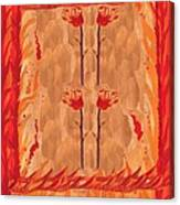 Four Of Wands Canvas Print
