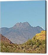 Four Peaks From The Apache Trail Canvas Print