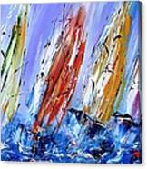 Four Sails To Four Winds Available As A Signed And Numbered Print On Canvas See Www.pixi-art.com Canvas Print