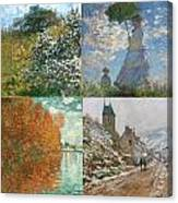 Four Seasons A Collage Of Monets Canvas Print