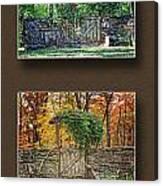 Four Seasons Collage Canvas Print