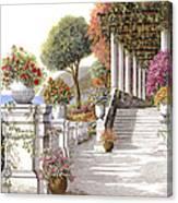 four seasons-summer on lake Como Canvas Print