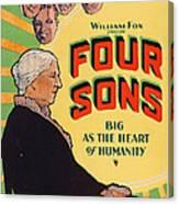 Four Sons, Us Poster Art, 1928. Tm & Canvas Print