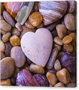 Four Stone Hearts Canvas Print