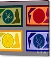 Four Tiles2 Canvas Print