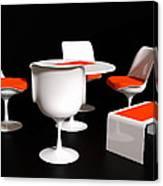 Four Tulip Chairs Canvas Print