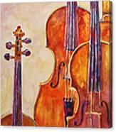 Four Violins Canvas Print