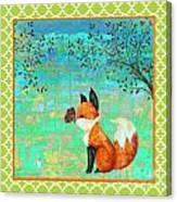 Fox-d Canvas Print