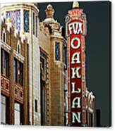 Fox Theater . Oakland California Canvas Print