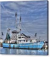 Shrimp Boat At Port Canvas Print
