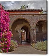 Fr. Serra Church Entrance Canvas Print