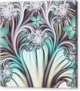 Fractal Abstract Fantasy Flower Garden 2 Canvas Print