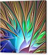 Fractal Bird Of Paradise Canvas Print