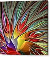 Fractal Bird Of Paradise Redux Canvas Print