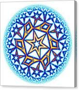 Fractal Escheresque Winter Mandala 1 Canvas Print