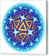 Fractal Escheresque Winter Mandala 10 Canvas Print