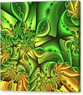 Fractal Gold And Green Together Canvas Print
