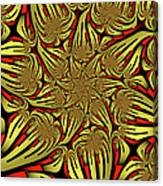Fractal Golden And Red Canvas Print