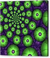 Fractal Green Shapes Canvas Print
