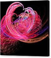 Fractal - Heart - Lets Be Friends Canvas Print