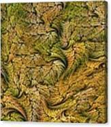 Fractal Leaf Mat-- 2 Canvas Print