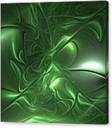 Fractal Living Green Metal Canvas Print