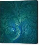 Fractal Marine Blue Canvas Print