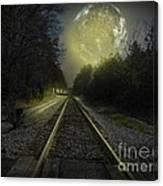 Fractal Moon Canvas Print